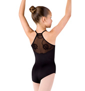 Girls Camisole Swirl Tulle Racer Back Leotard