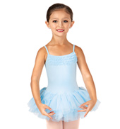 Girls Leotard with Tulle Skirt