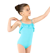 Girls Camisole Frill Leotard