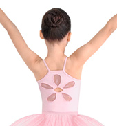 Girls Daisy Mesh Camisole Leotard