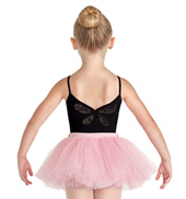 Girls Lev Butterfly Mesh Camisole Leotard