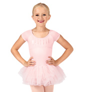 Girls Ife Sequin Bodice Heart Back Short Sleeve Tutu Dress
