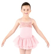 Girls Camisole Swirl Mesh Tutu Dress