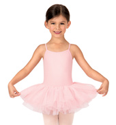 Girls Waiola Flower Sequin Tulle Camisole Dress