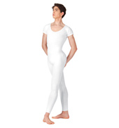 Mens Cotton Short Sleeve Unitard