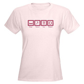 Women Sleep- Dance- Eat- Repeat T-Shirt