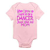 Infant Dance Just Like Mom Bodysuit
