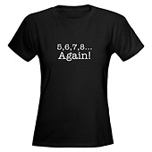 Women 5,6,7,8 Again V-Neck T-Shirt