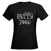 Women Happy Feet V-Neck T-Shirt