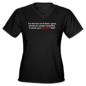 Women Point Your Feet V-Neck T-Shirt