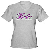 Womens Ballet Dance V-Neck T-Shirt
