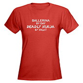 Women Ballerina Deadly Ninja T-Shirt