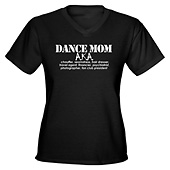Women Dance Mom V-Neck T-Shirt
