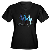 Women What moves you Dance V-Neck T-Shirt