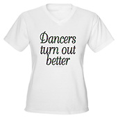 Women Dancers turn out better V-Neck T-shirt)