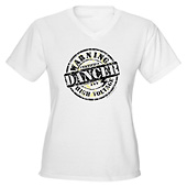 Women Warning Dancer High Voltage V-Neck T-Shirt
