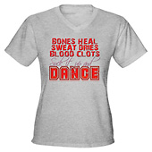 Women Bones Heal, Blood Clots, Dance V-Neck T-Shirt