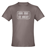 Men Real Men Do Ballet Organic Fitted T-Shirt