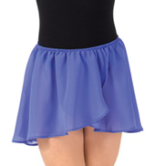 Basic Georgette Mock Wrap Skirt for Girls