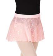 Girls Shaylee Flower Sequin Tulle Pull-On Skirt
