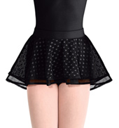 Girls Heart Mesh Pull-On Skirt