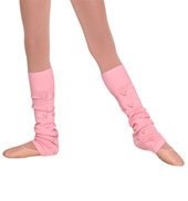Girls Heart Knit Legwarmers