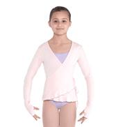 Girls Alivia Soft Jersey Long Sleeve Wrap Top