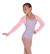 Girls Heart Knit Long Sleeve Shrug