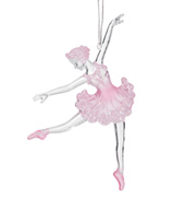 Pink and Clear Ballerina Ornament