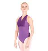 Adult Mesh Overlay Halter Leotard