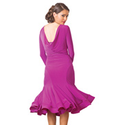 Adult Long Sleeve Short Crinoline Ballroom Dress