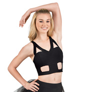 Adult Camisole Geometric Cutout Crop Top