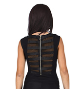 Adult Mesh and Elastic Back Cap Sleeve Top