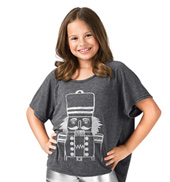 Girls Glitter Nutcracker Short Sleeve Top