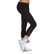 Rhinestone Crop Tights/Leggings