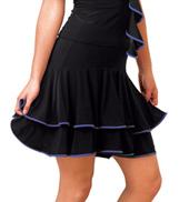 Adult Banded Double Ruffle Ballroom Skirt