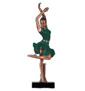 Green Skirt Ballerina Figurine
