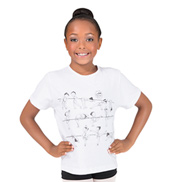 Child At the Barre Girls T-Shirt
