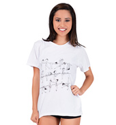 At the Barre Adult Babydoll T-Shirt