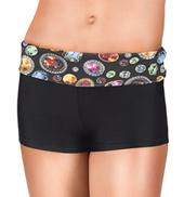 Girls Gem Waist Dance Shorts