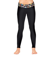 Girls Gem Waist Leggings