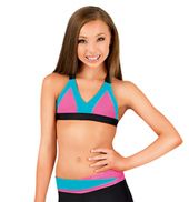 Girls Color Block Camisole Bra Top
