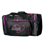 Rhinestone Dance Heart Duffle Bag