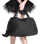 Multi Compartment Leather & Microfiber Dance Bag