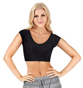 Adult Short Sleeve Crop Top