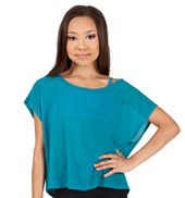 Girls Mesh Boxy Tee