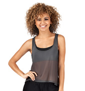 Adult Mesh High-Low Tank Top