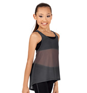 Girls Mesh High-Low Tank Top