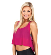 Adult Mesh Crop Tank Top