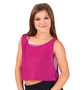 Girls Mesh Crop Tank Top